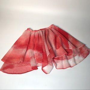 Vintages Fairy Ballerina Kids Skirt Red Pink